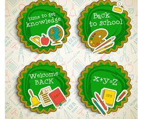 Cute school labels 2 vector design