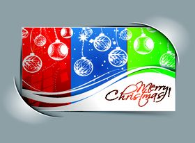 Abstract christmas cards 1 vectors material