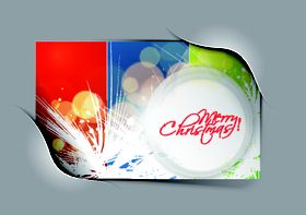 Abstract christmas cards 2 vectors material