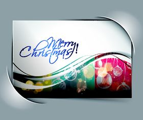 Abstract christmas cards 3 vectors material