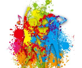 Color Paint and girl vector