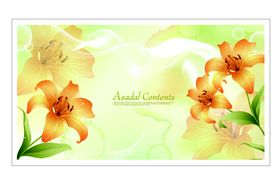 Beautiful Lily background 1 vector material
