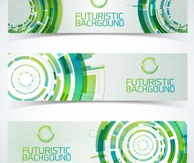 Futuristic Technology banner background vector