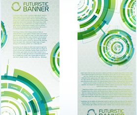 Futuristic Technology Vertical banner creative vector