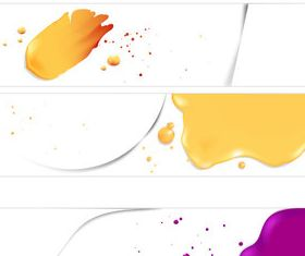 Colored elements banner vector