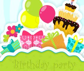 Birthday party background vector design