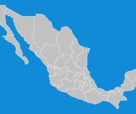 Mexico States Map vector