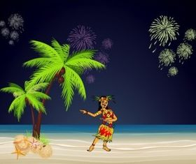 Hawaii Party vector graphics