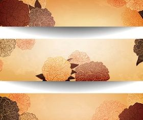 Floral Shiny Banners vector