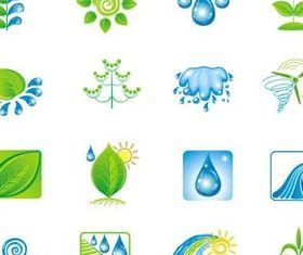 Shiny Natural Logotypes vectors material