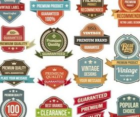 Premium Labels set vector