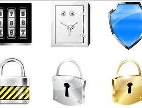 Different Locks Icons vectors material
