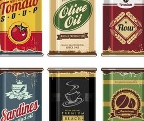 Food Color Cans vector