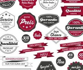 Sale Different Stickers vector
