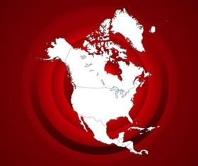 North Americ vector