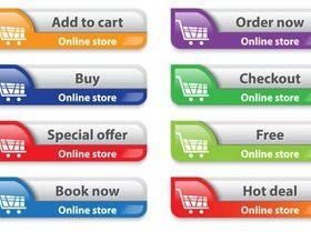 Color Web Sale Buttons art vector
