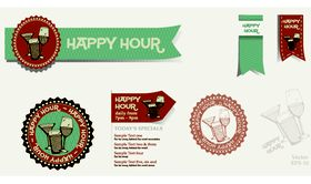 Restaurant labels 2 vectors graphic