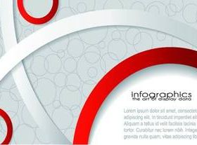 Red and white ribbon background vector
