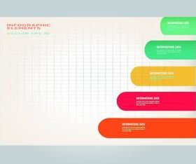Color bar infographic background vector
