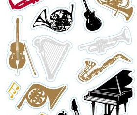 Hand drawn Musical Instruments vector