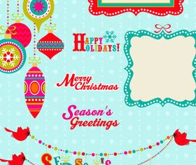 Cute holiday background vector