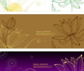 Hand drawn Lotus design vectors