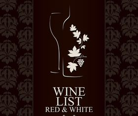 Wine vintage background 2 design vectors