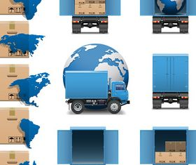 Logistics and transport icons 2 vector