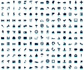 Mini Social Icons set vector