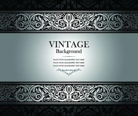 Floral vintage style background 1 vector design