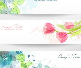 Banner flower vectors material