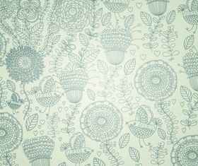 Floral pattern graphics vectors