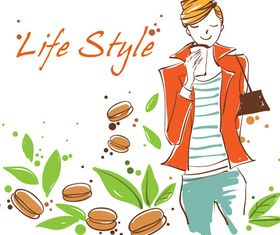Life style 1 vector graphic