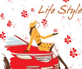 Life style 3 vector graphic