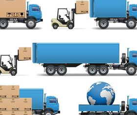 Logistics and transport icons 1 vector