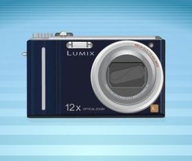 Lumix Camera shiny vector