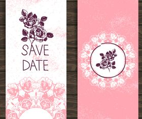 Wedding Invitation banner 1 design vector
