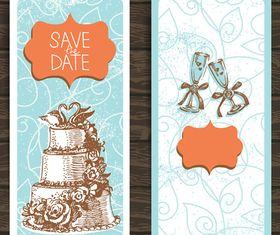 Wedding Invitation banner 2 design vector
