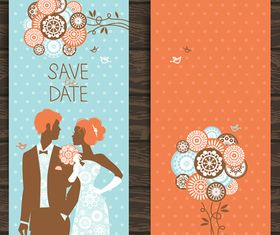 Wedding Invitation banner 3 design vector
