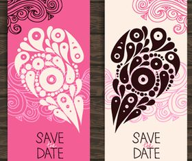 Wedding Invitation banner 4 design vector