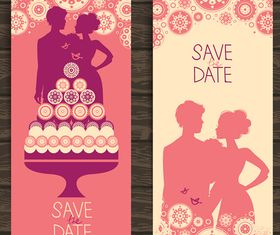 Wedding Invitation banner 5 design vector