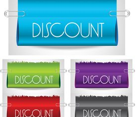 Clip and banner vectors material