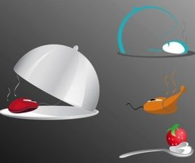 Food Tech creative vector