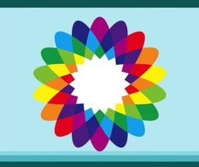 Rainbow Flower vectors material