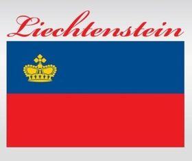 Liechtenstein Flag shiny vector
