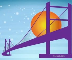 Bridge Silhouette shiny vector