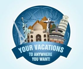Holiday Travel Graphics vector