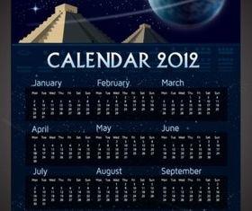 Mayan Calendar Vector set