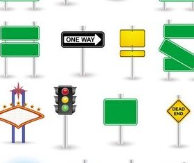 Road Signs free creative vector