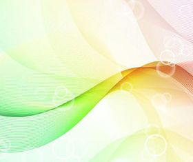 Color waves line background 1 set vector